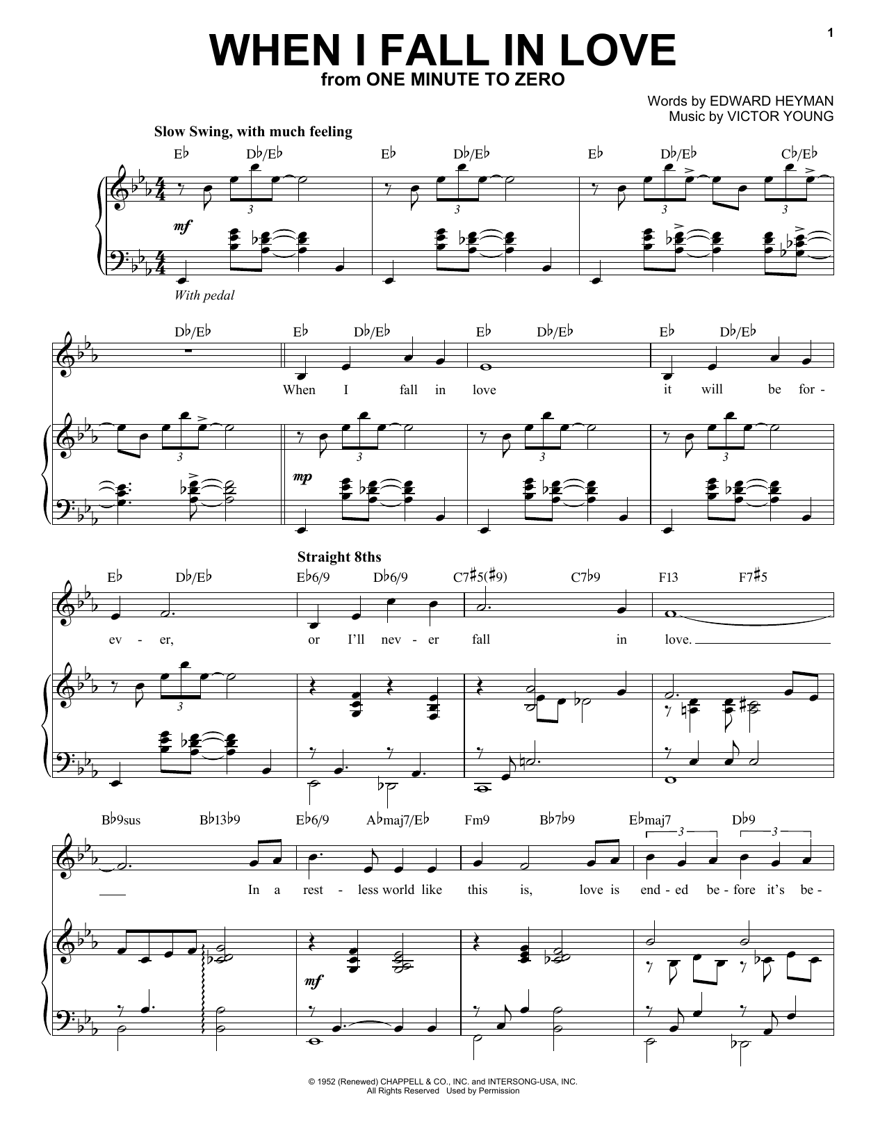 When I Fall In Love [Jazz version] (arr. Brent Edstrom) (Piano & Vocal)