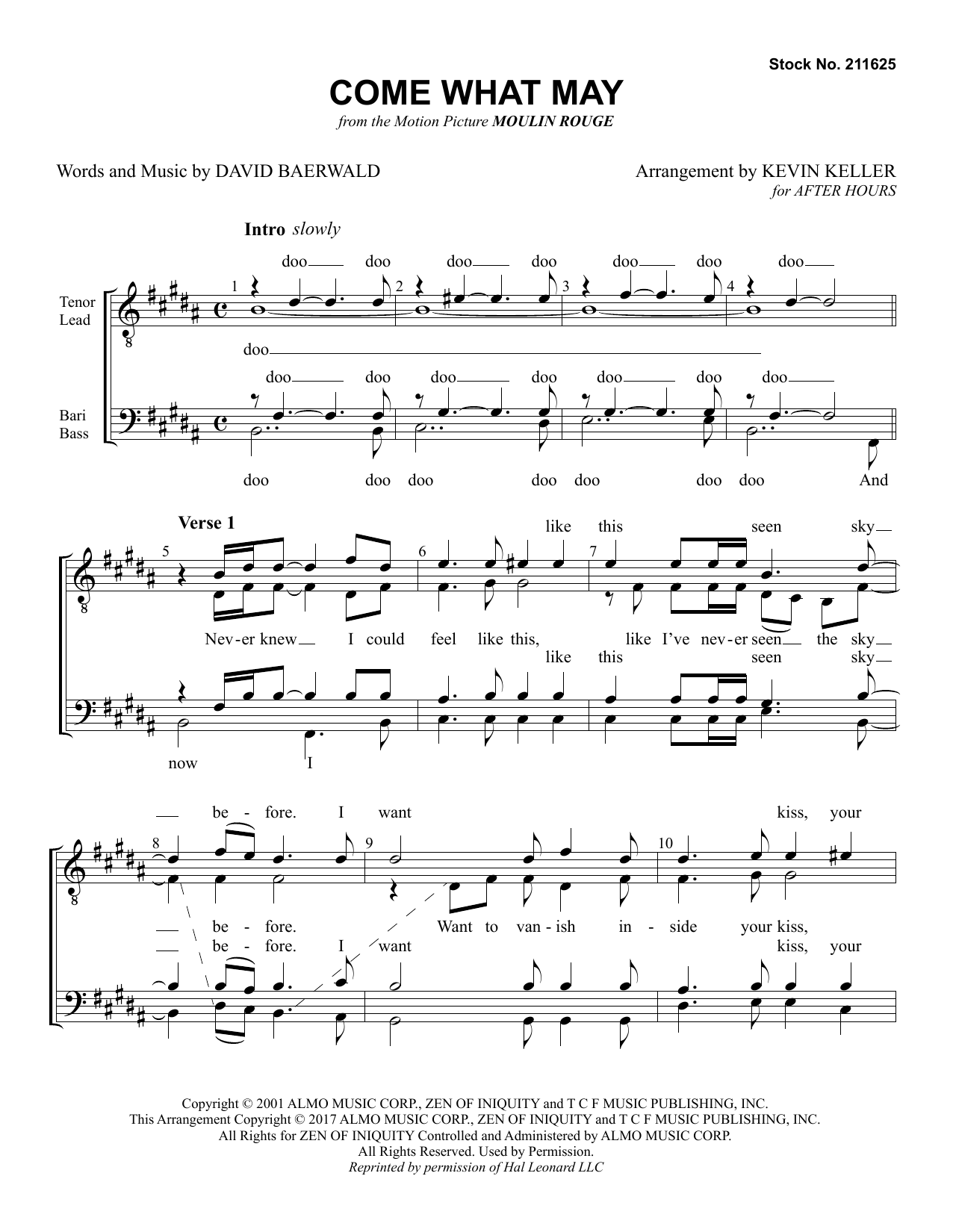 Come What May (from Moulin Rouge) (arr. Kevin Keller) (TTBB Choir)