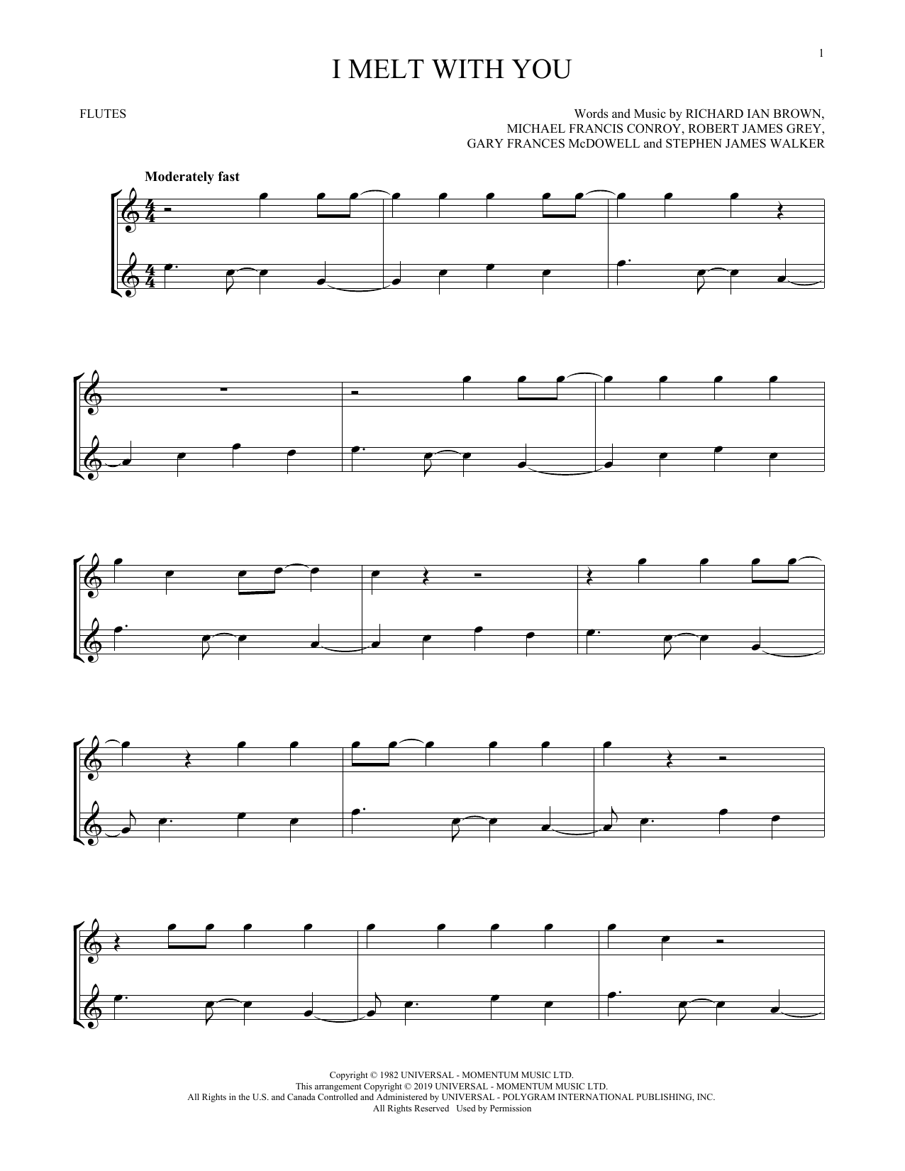 I Melt With You (Flute Duet)