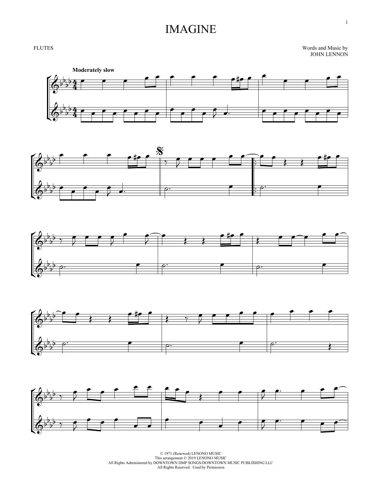 Imagine (Flute Duet)