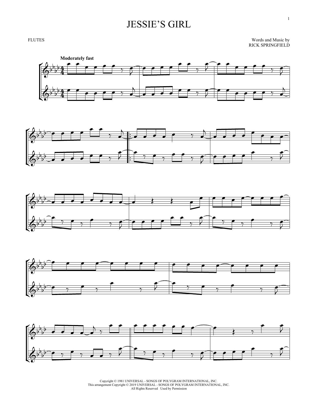 Jessie's Girl (Flute Duet)