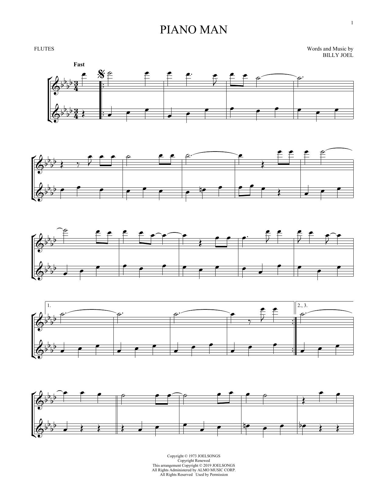 Piano Man (Flute Duet)
