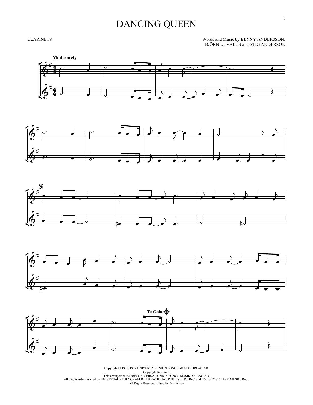 Dancing Queen (Clarinet Duet)