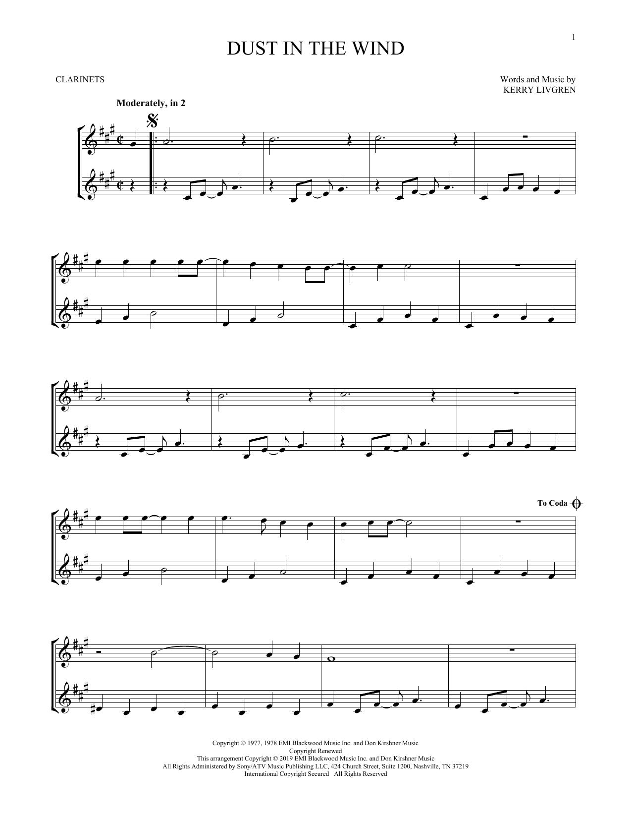 Dust In The Wind (Clarinet Duet)
