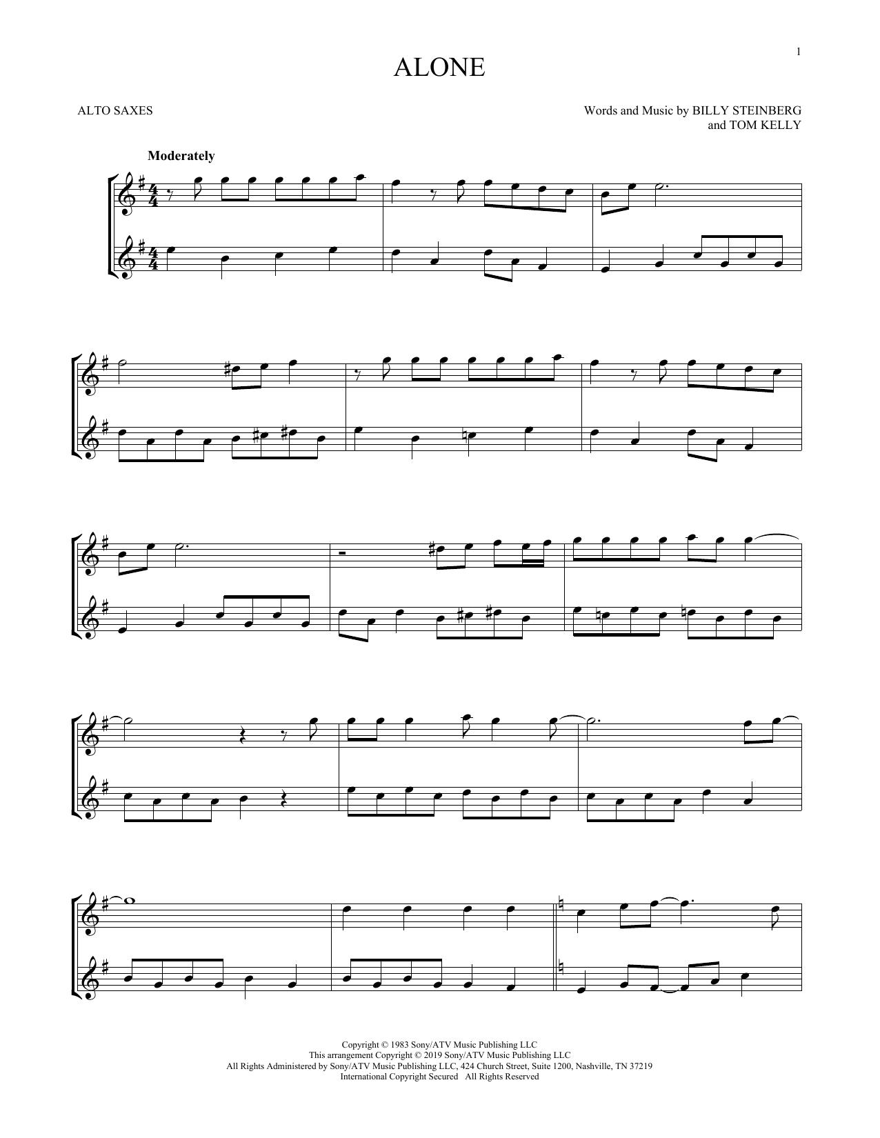 Alone (Alto Sax Duet)