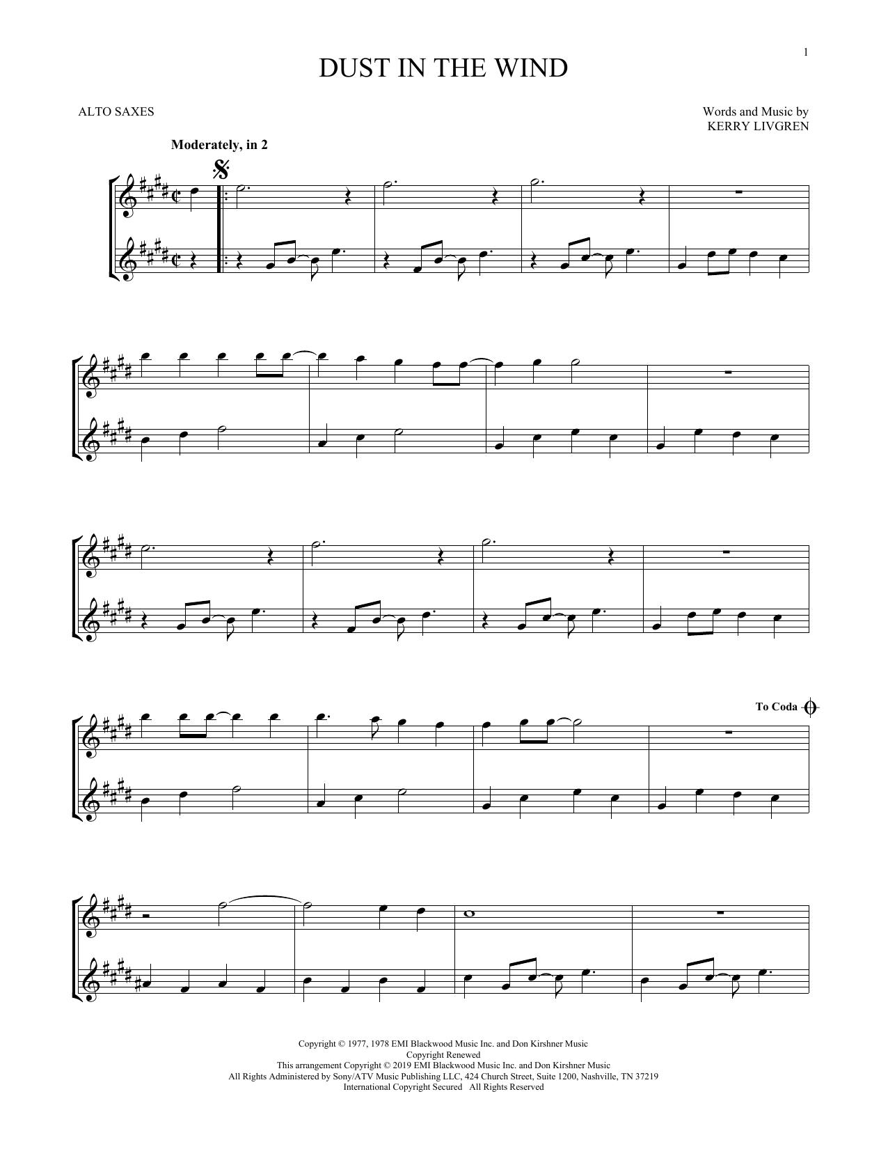Dust In The Wind (Alto Sax Duet)