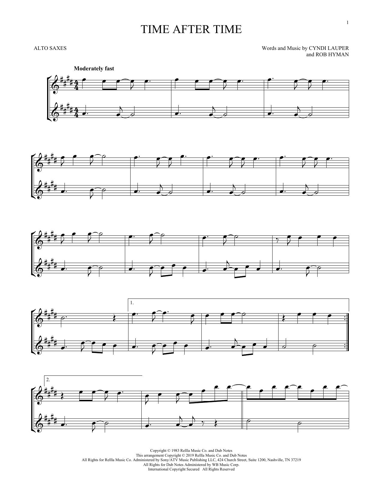 Time After Time (Alto Sax Duet)