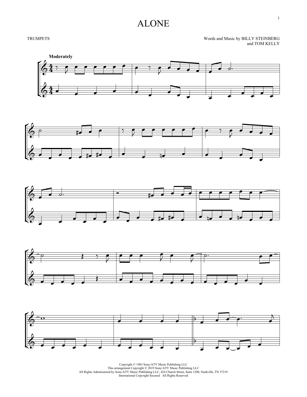 Alone (Trumpet Duet)