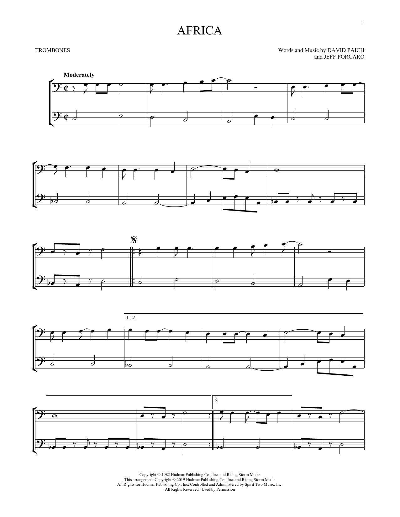 Africa (Trombone Duet)