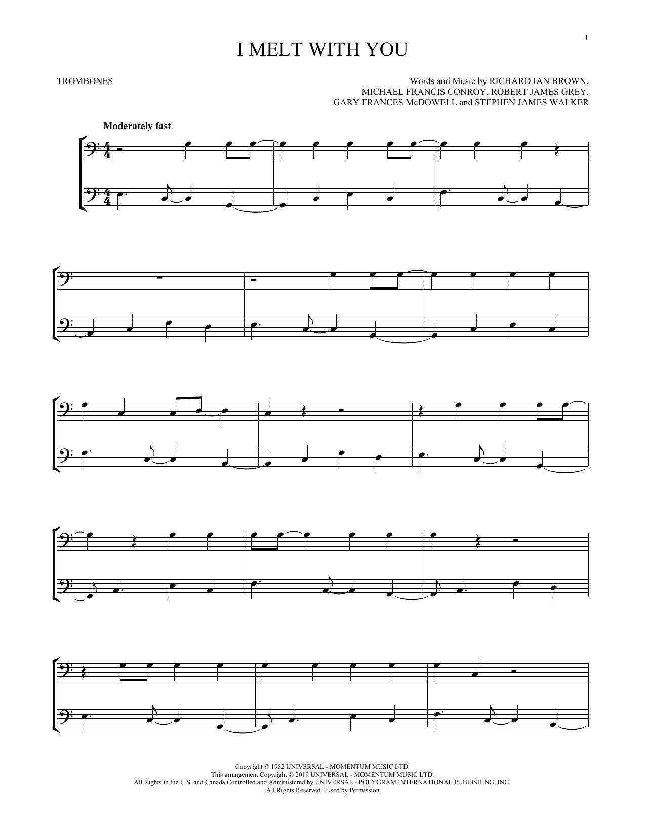 I Melt With You (Trombone Duet)