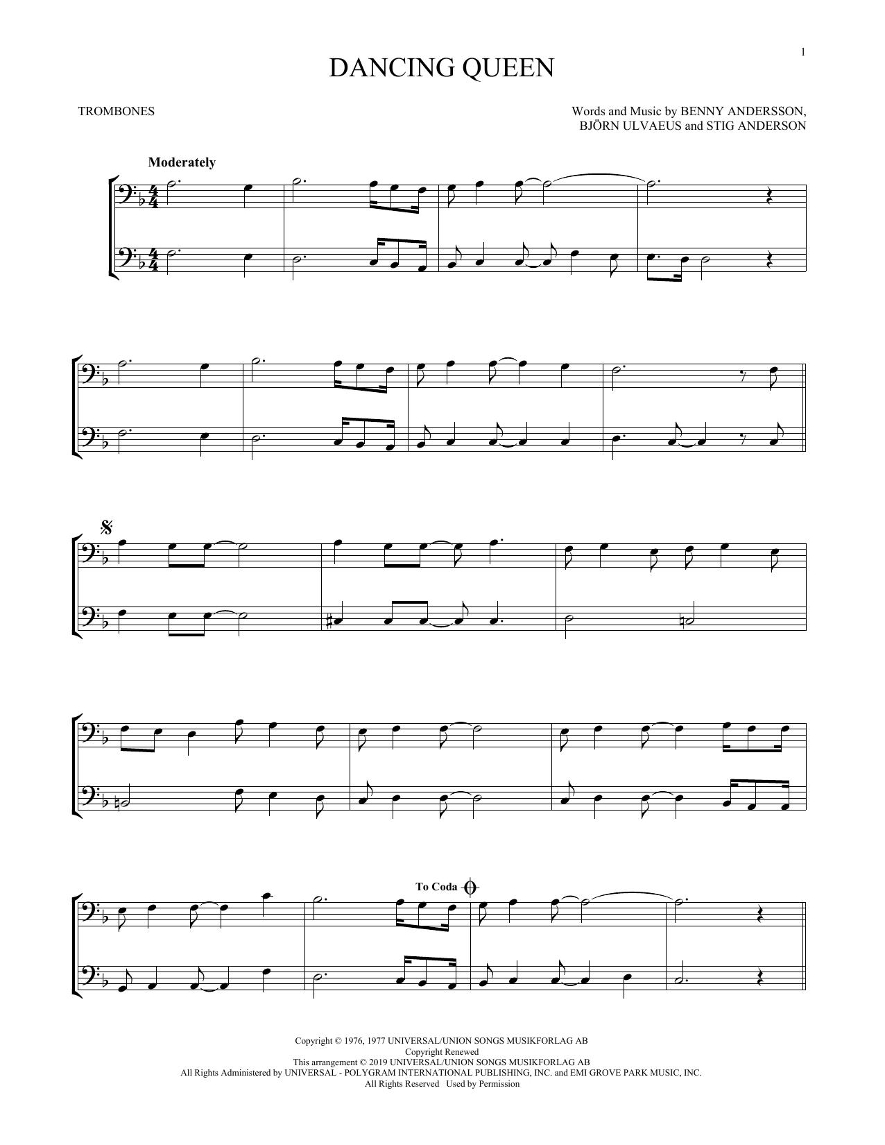 Dancing Queen (Trombone Duet)