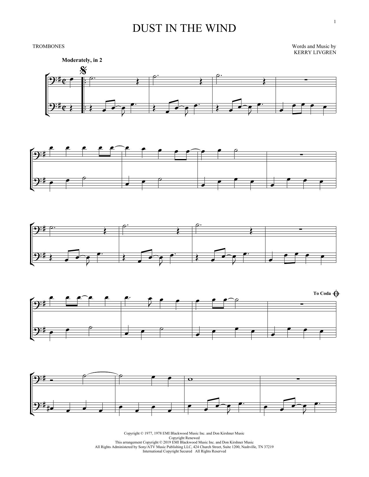 Dust In The Wind (Trombone Duet)