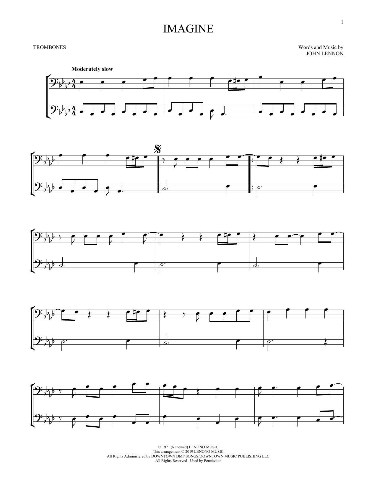 Imagine (Trombone Duet)