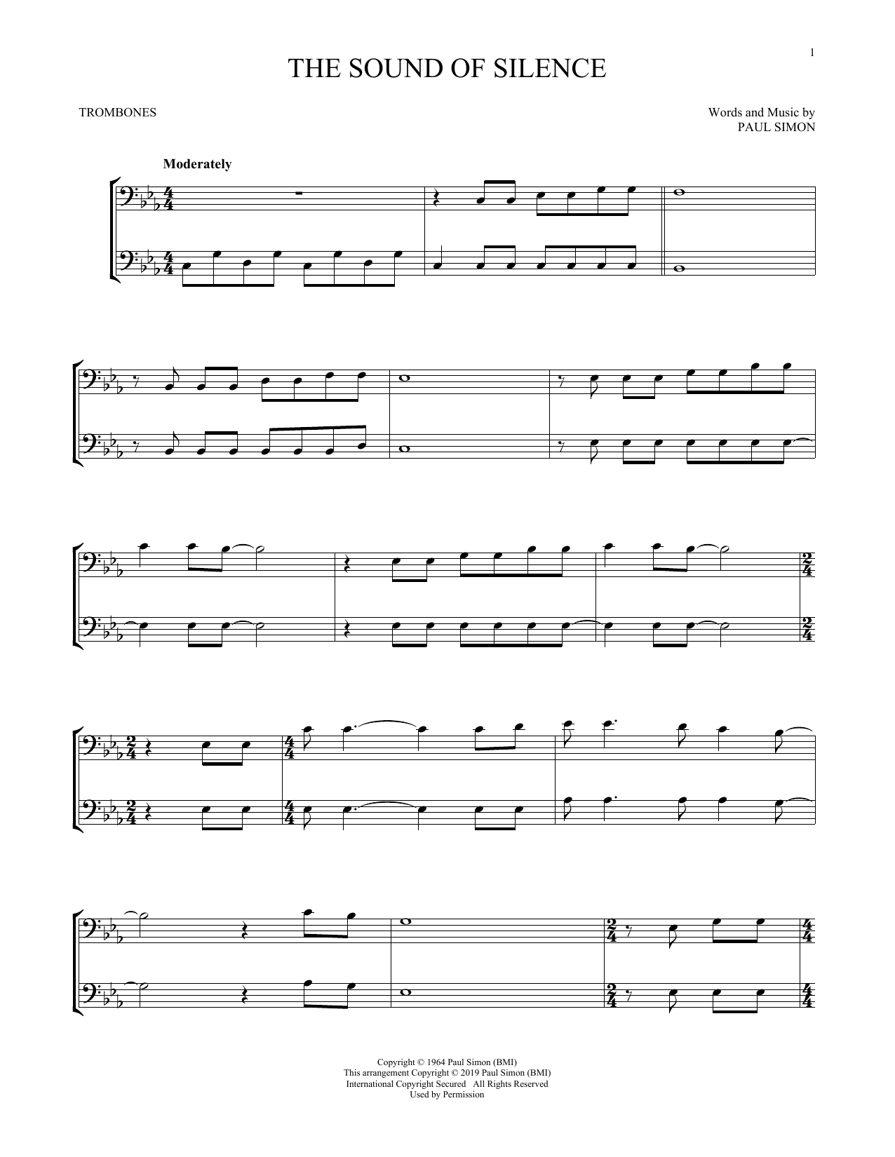 The Sound Of Silence (Trombone Duet)
