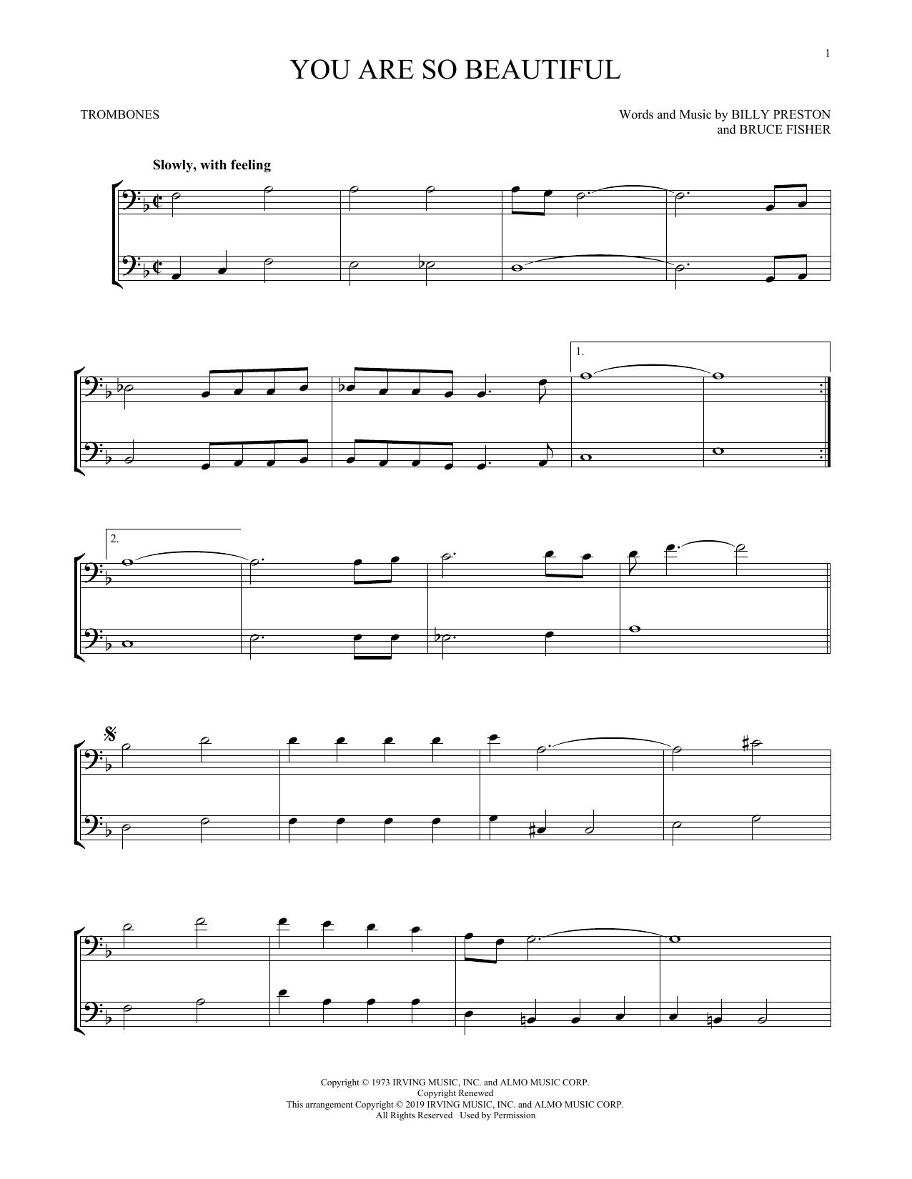 You Are So Beautiful (Trombone Duet)