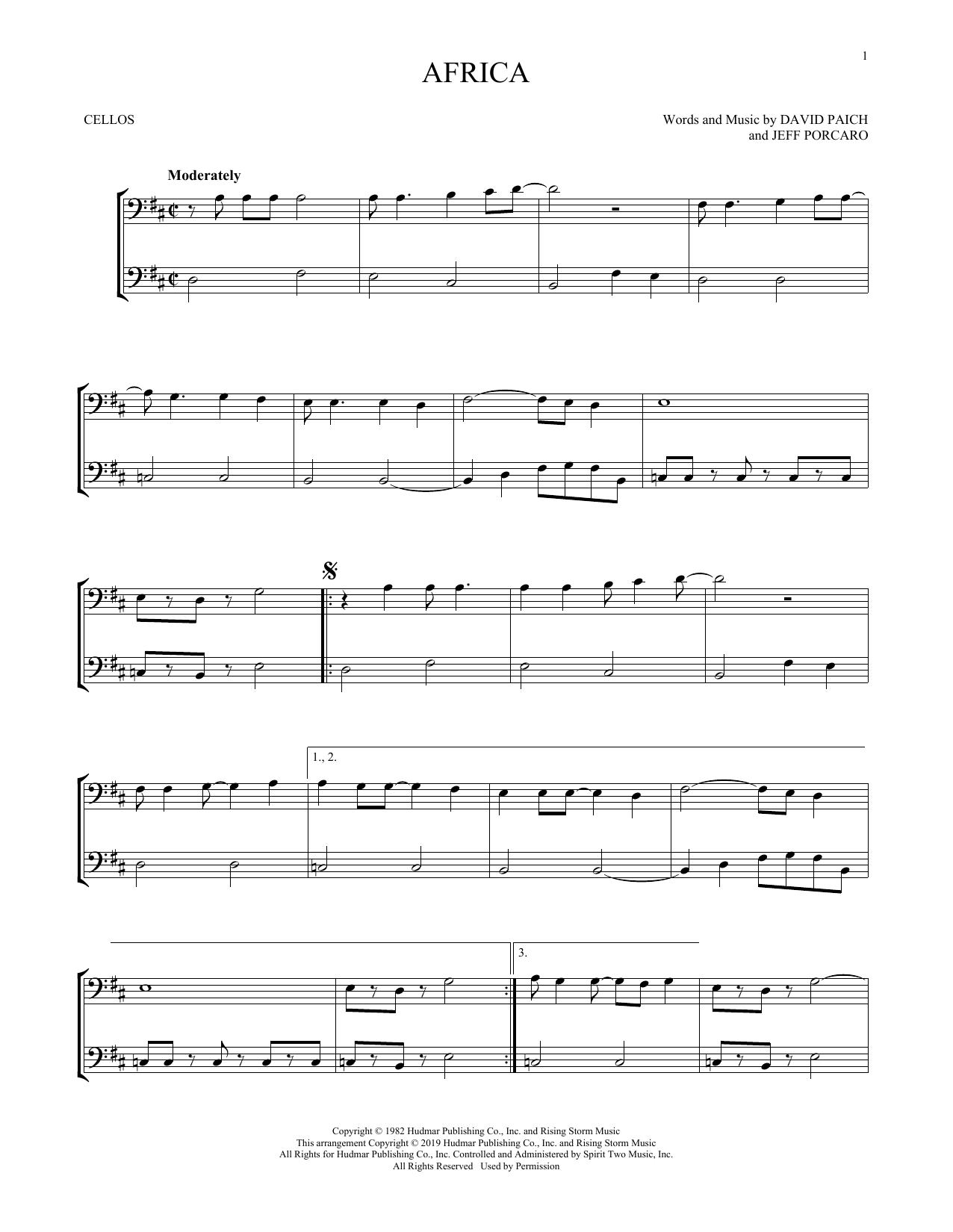Africa (Cello Duet)