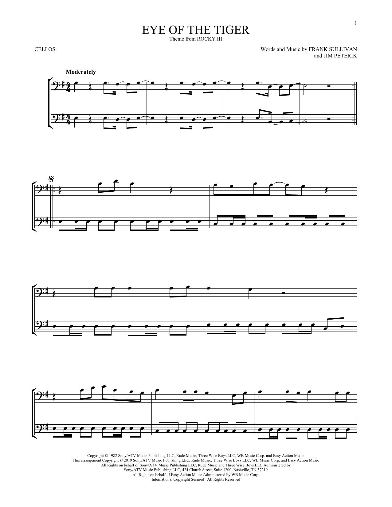Eye Of The Tiger (Cello Duet)