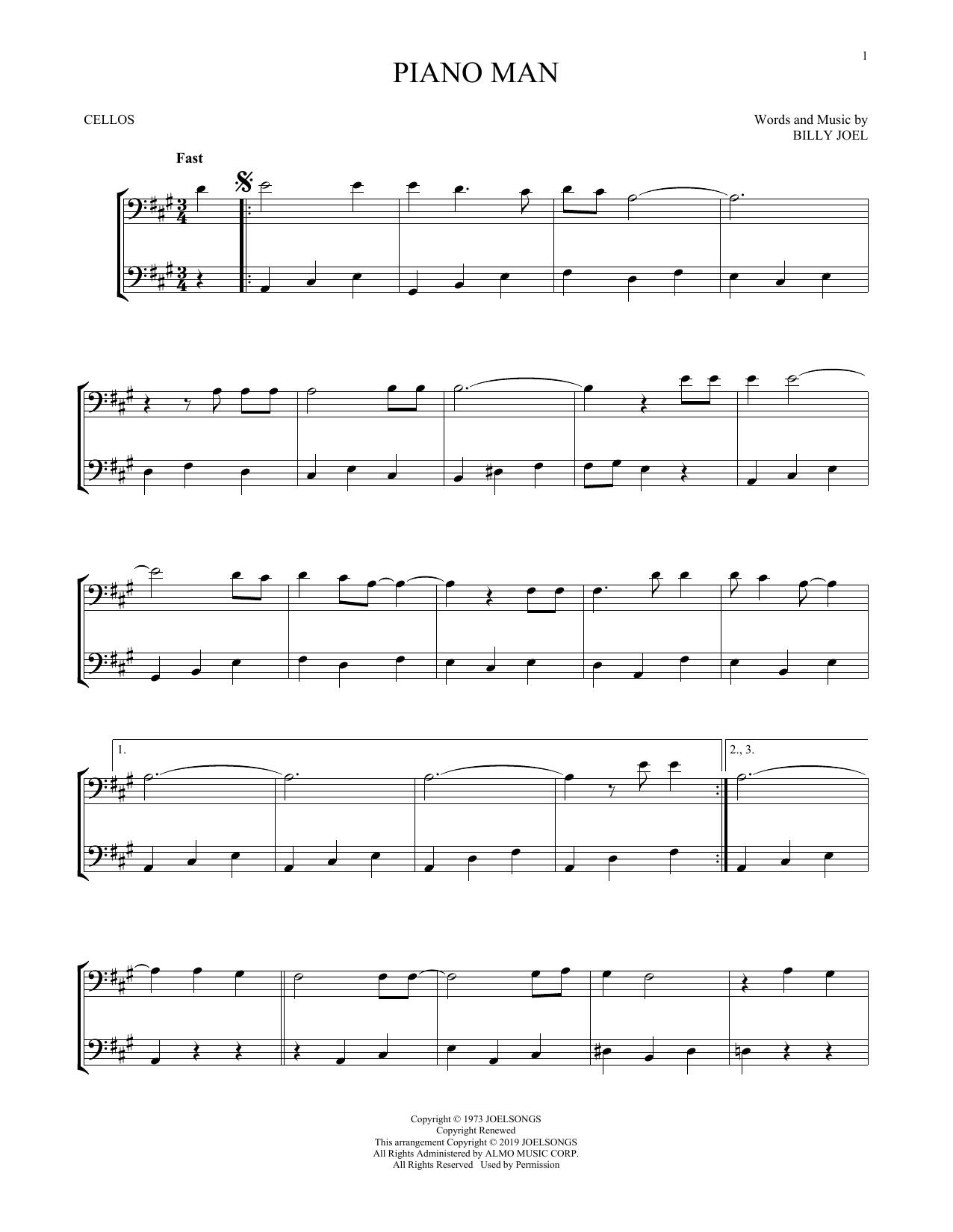 Piano Man (Cello Duet)