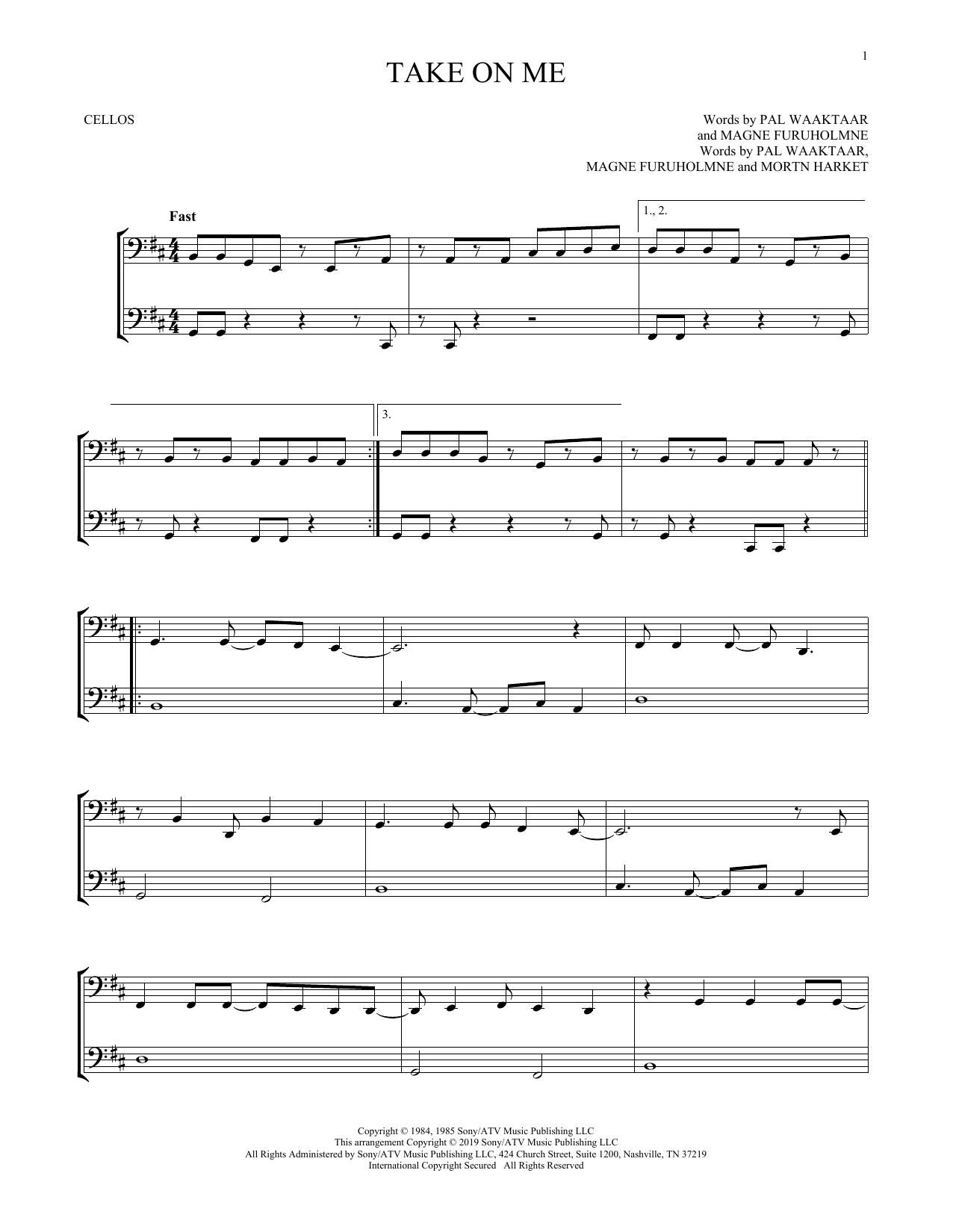 Take On Me (Cello Duet)