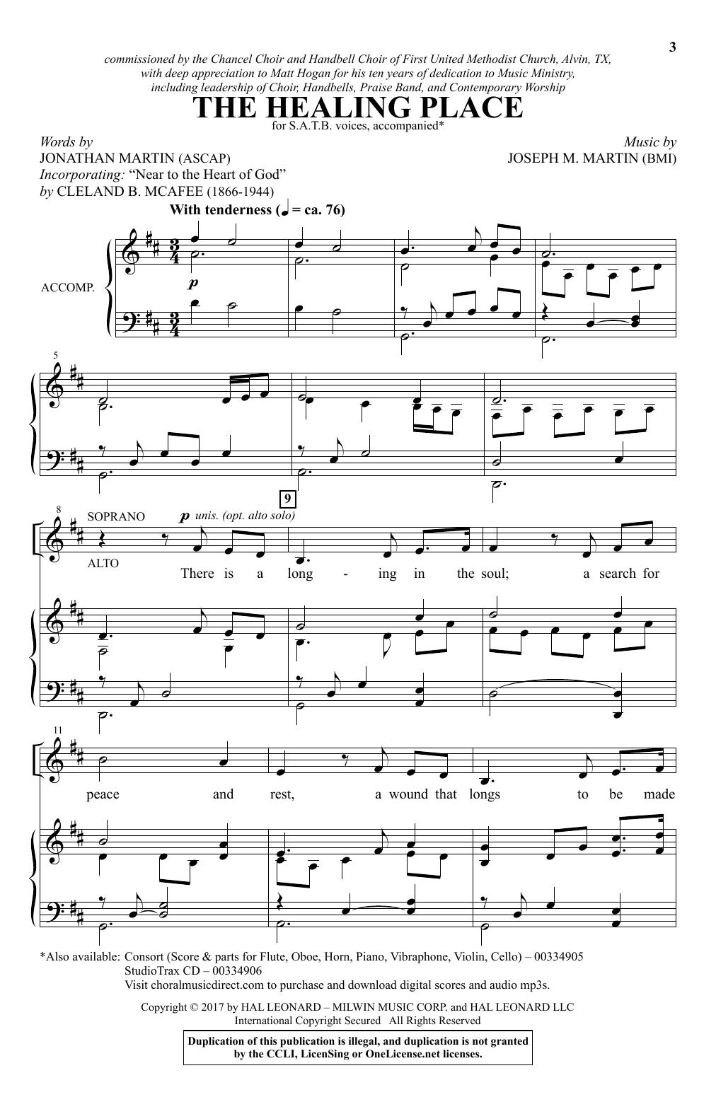 The Healing Place (SATB Choir)