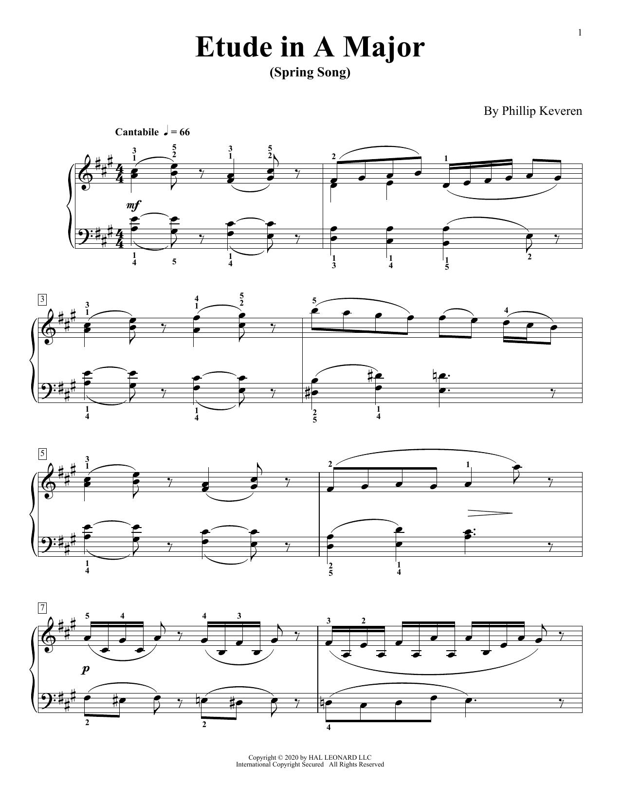 Etude In A Major (Spring Song) (Piano Solo)