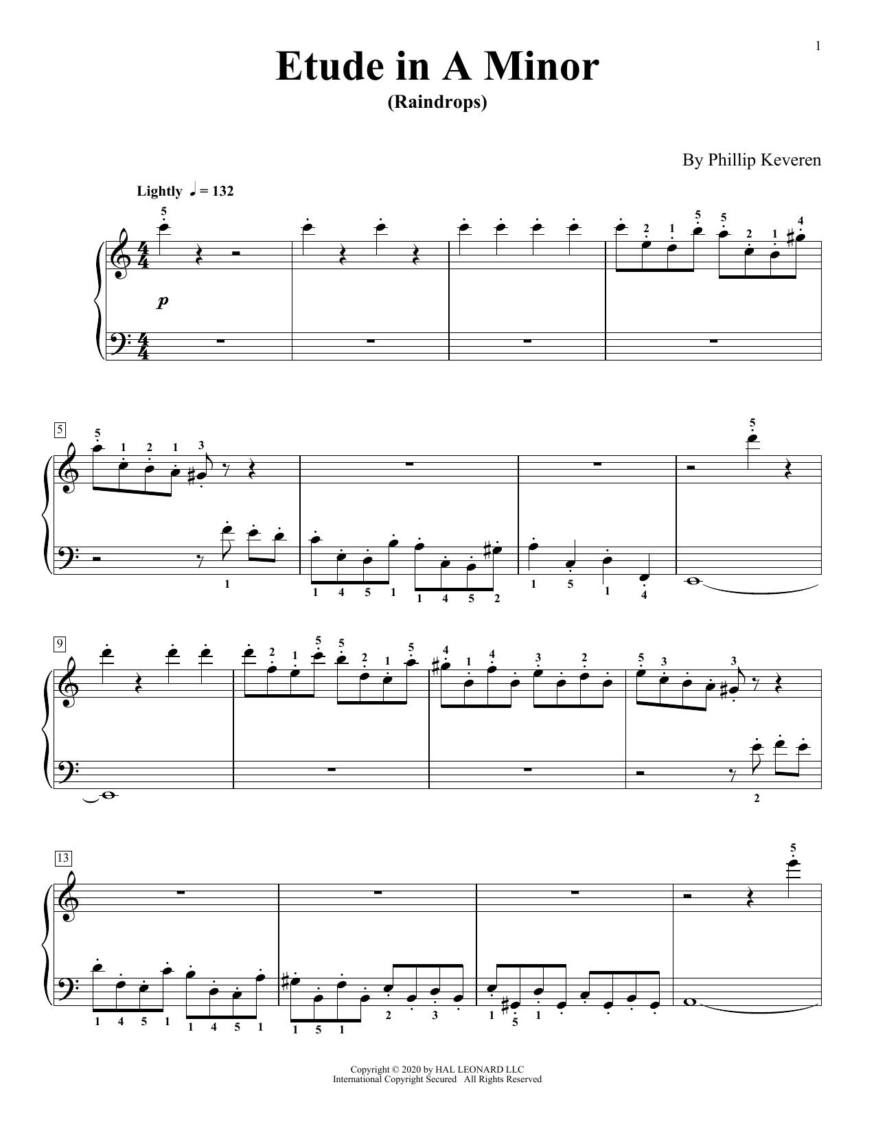 Etude In A Minor (Raindrops) (Piano Solo)