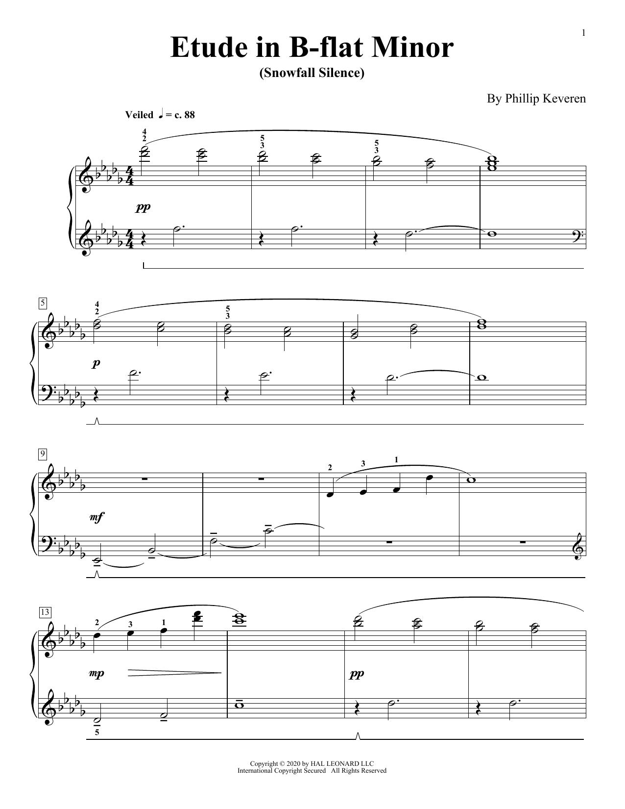 Etude In B-Flat Minor (Snowfall Silence) (Piano Solo)
