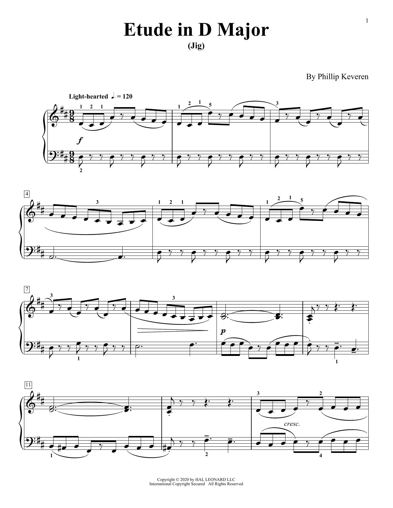 Etude In D Major (Jig) (Piano Solo)