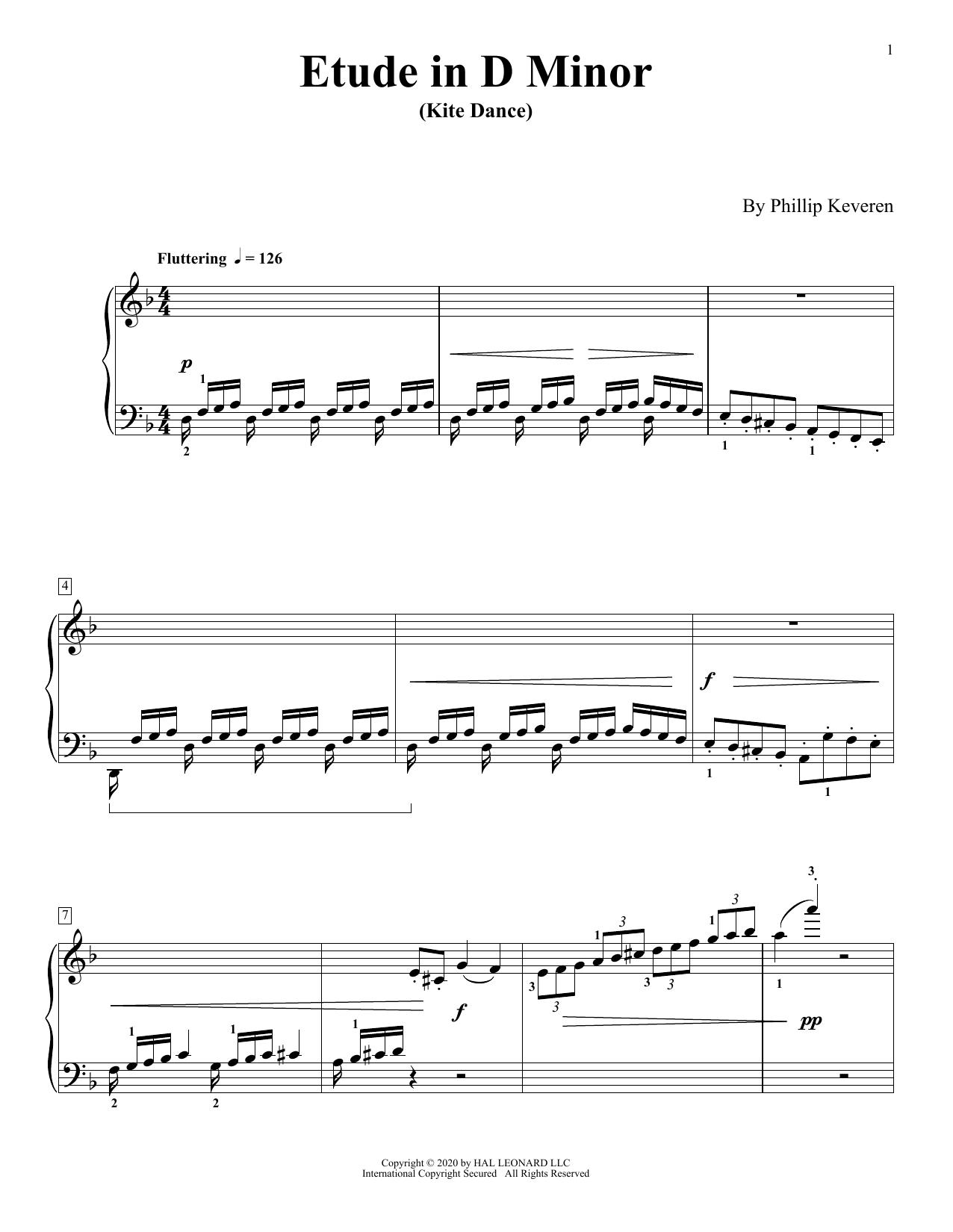 Etude In D Minor (Kite Dance) (Piano Solo)