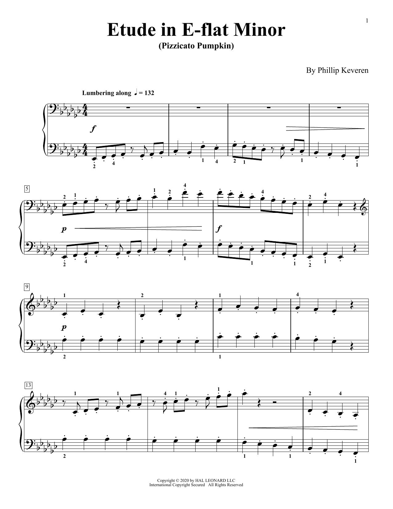Etude In E-Flat Minor (Pizzicato Pumpkin) (Piano Solo)