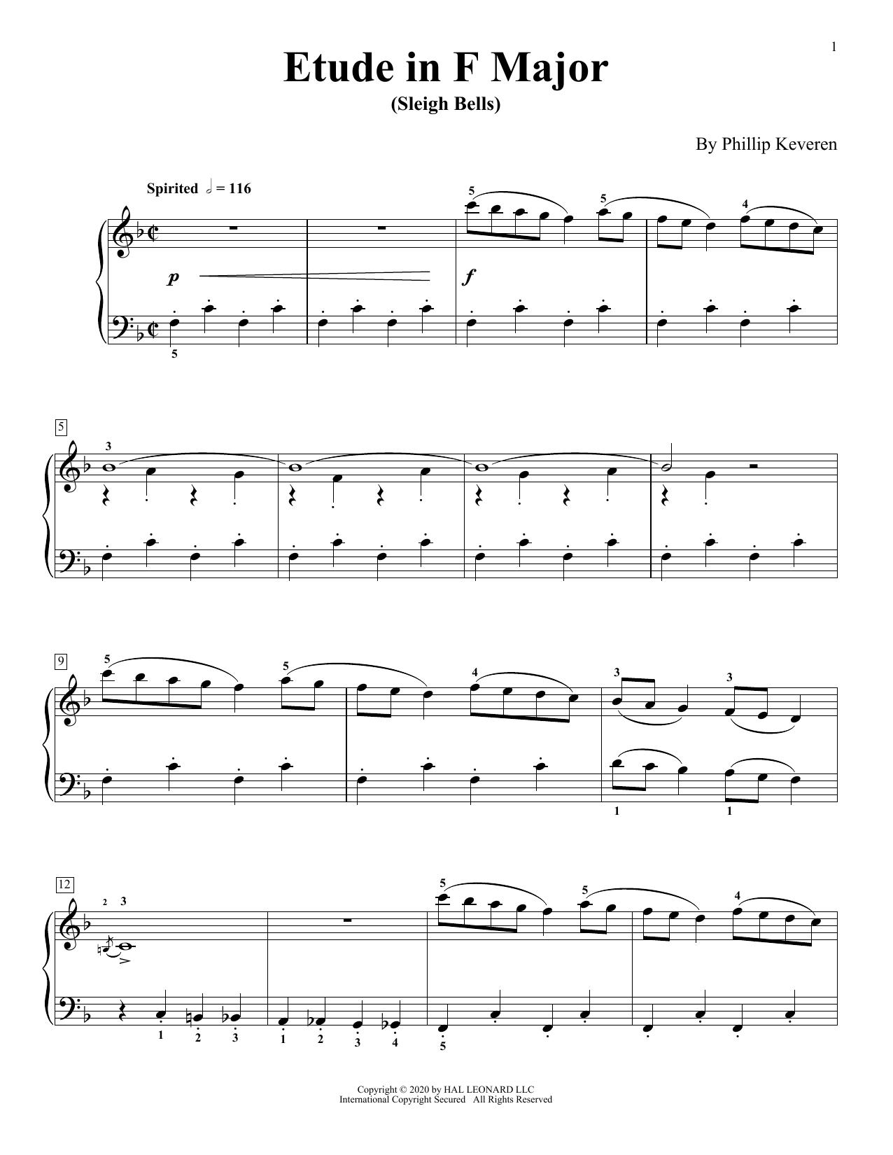 Etude In F Major (Sleigh Bells) (Piano Solo)