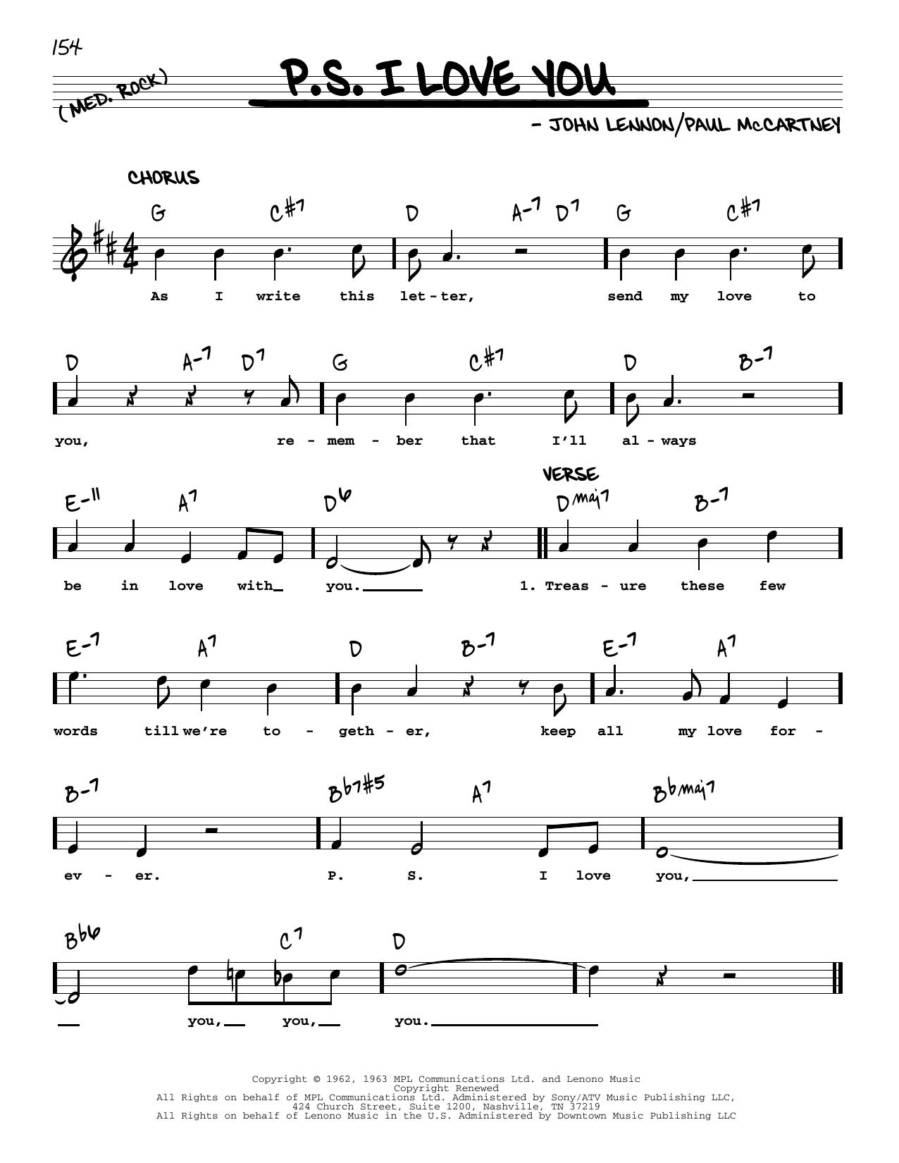 P.S. I Love You [Jazz version] (Real Book – Melody, Lyrics & Chords)