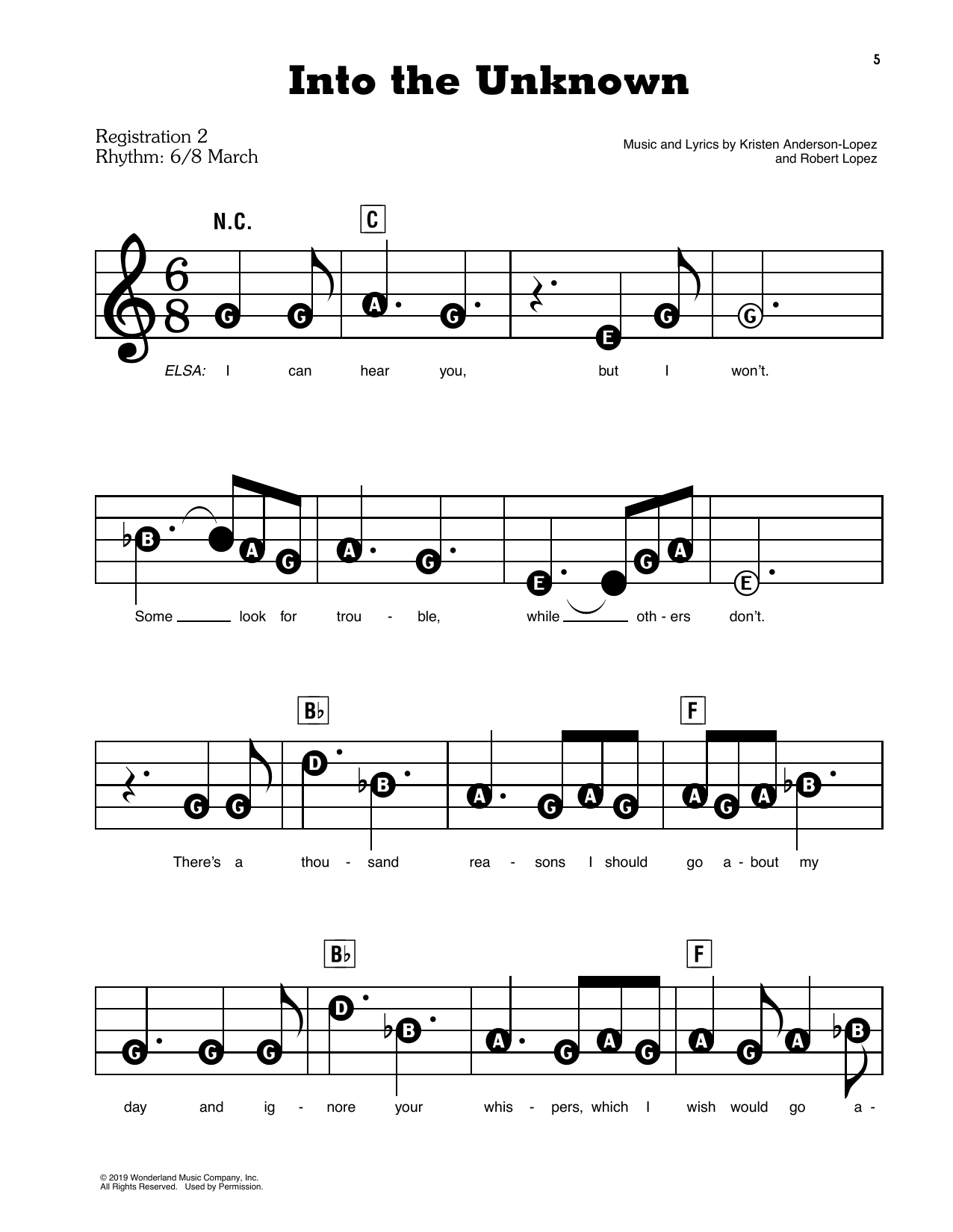 Into The Unknown (from Disney's Frozen 2) Sheet Music