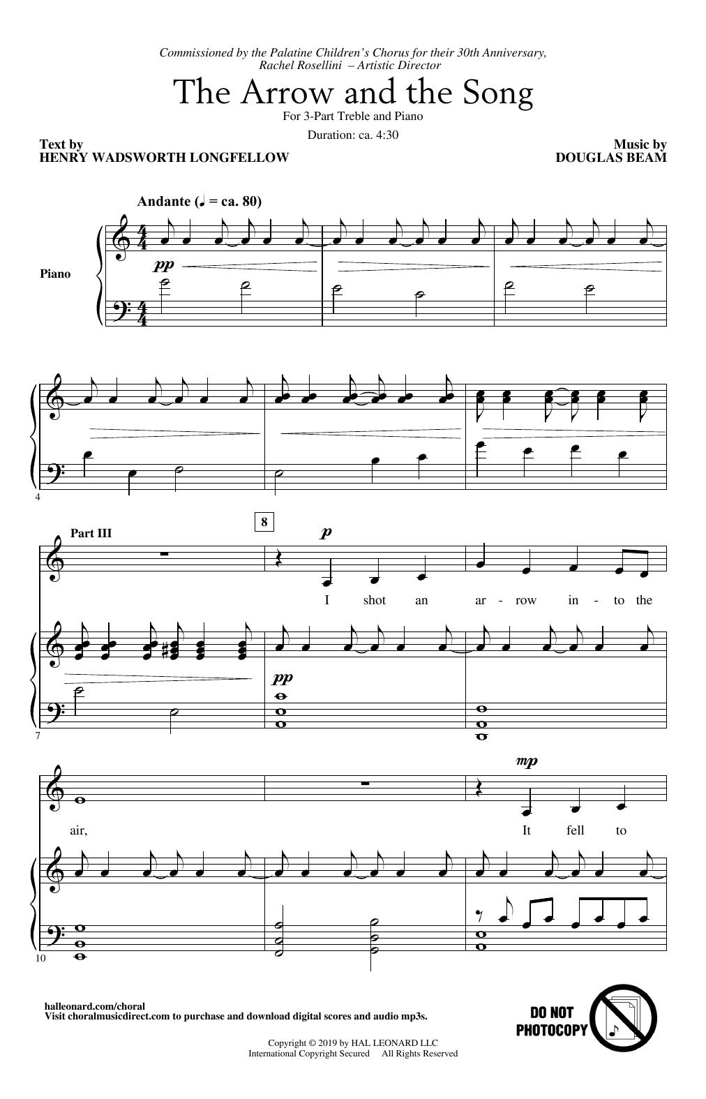 The Arrow And The Song (3-Part Treble Choir)