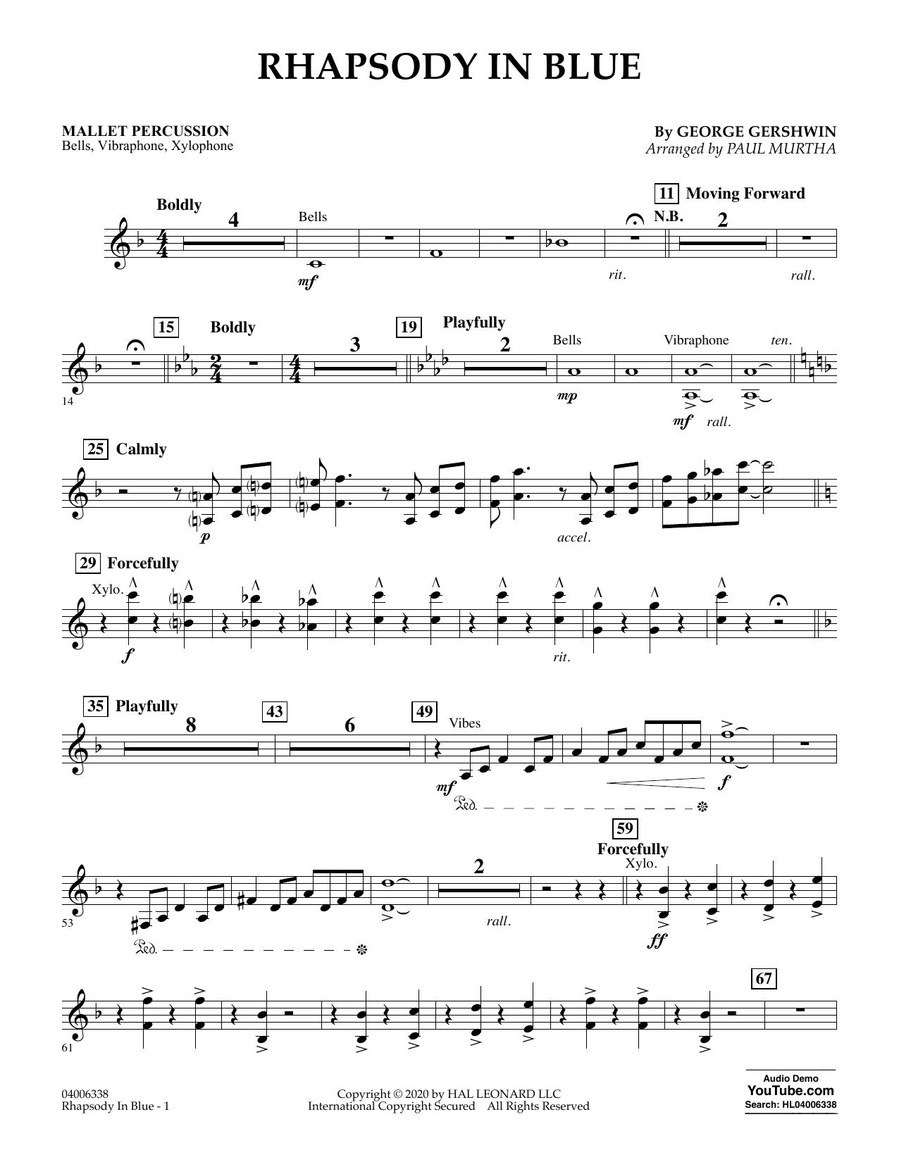 Rhapsody in Blue (arr. Paul Murtha) - Mallet Percussion (Flex-Band)