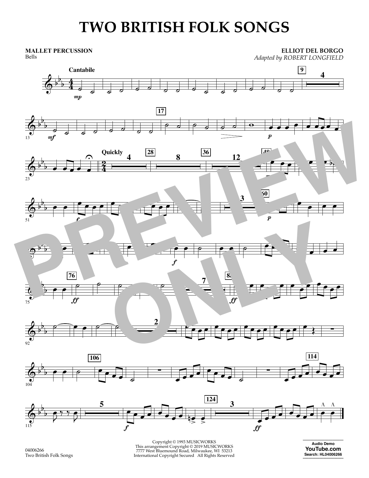 Two British Folk Songs (arr. Robert Longfield) - Mallet Percussion (Concert Band)