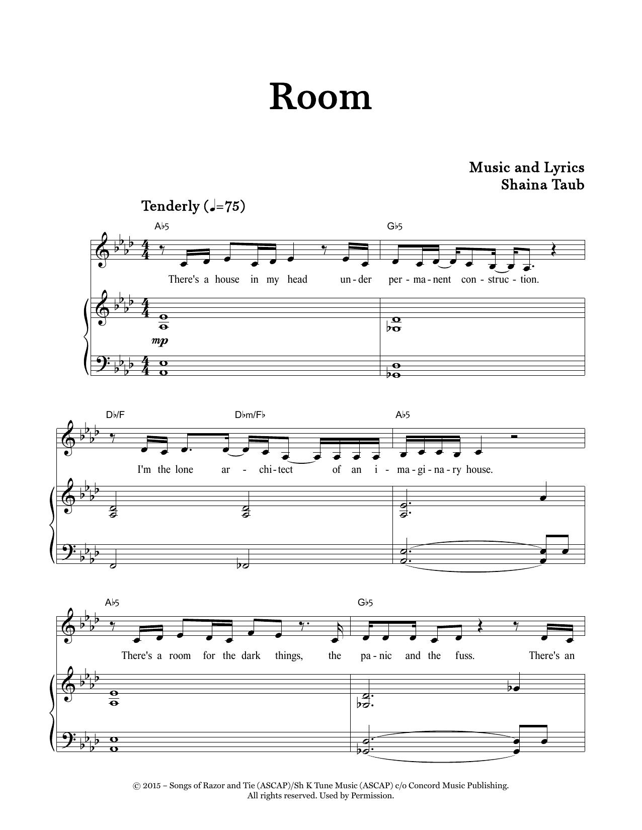 Room (Piano & Vocal)