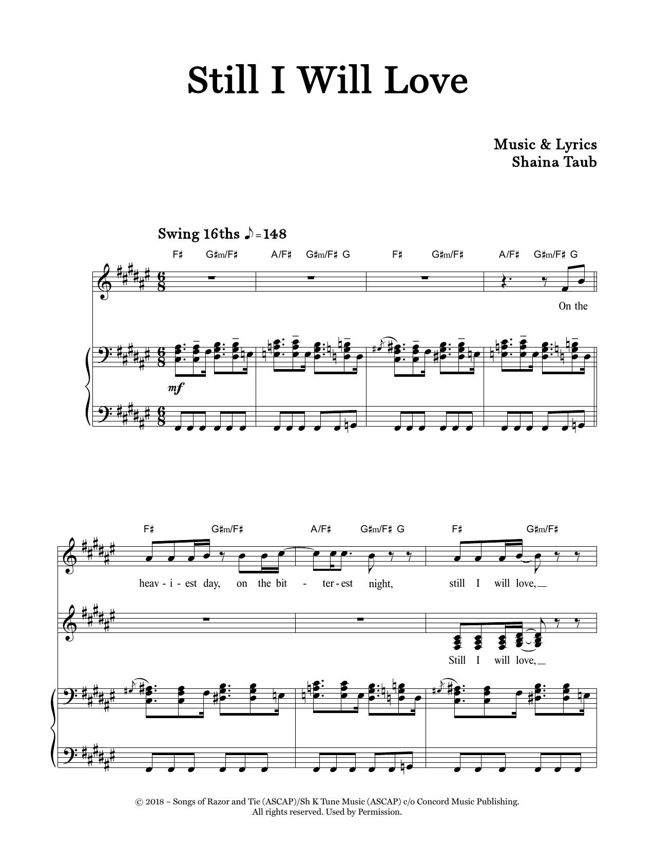 Still I Will Love (Piano & Vocal)