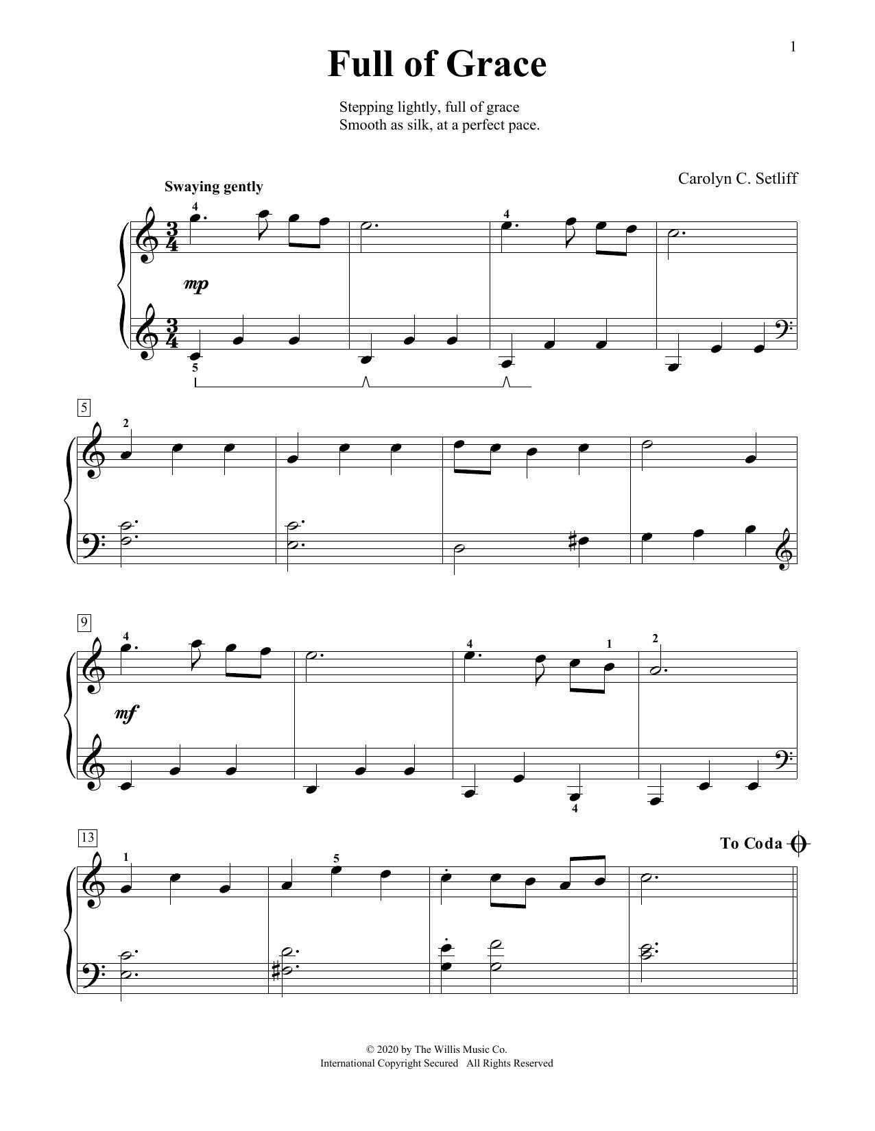 Full Of Grace (Educational Piano)