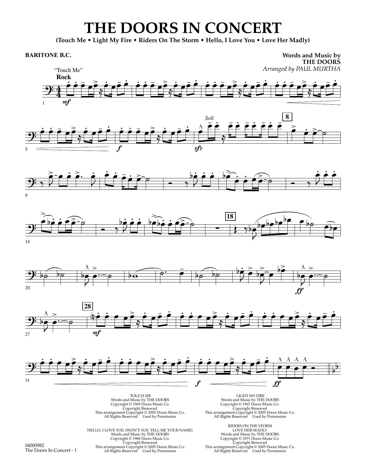 The Doors in Concert (arr. Paul Murtha) - Baritone B.C. (Concert Band)