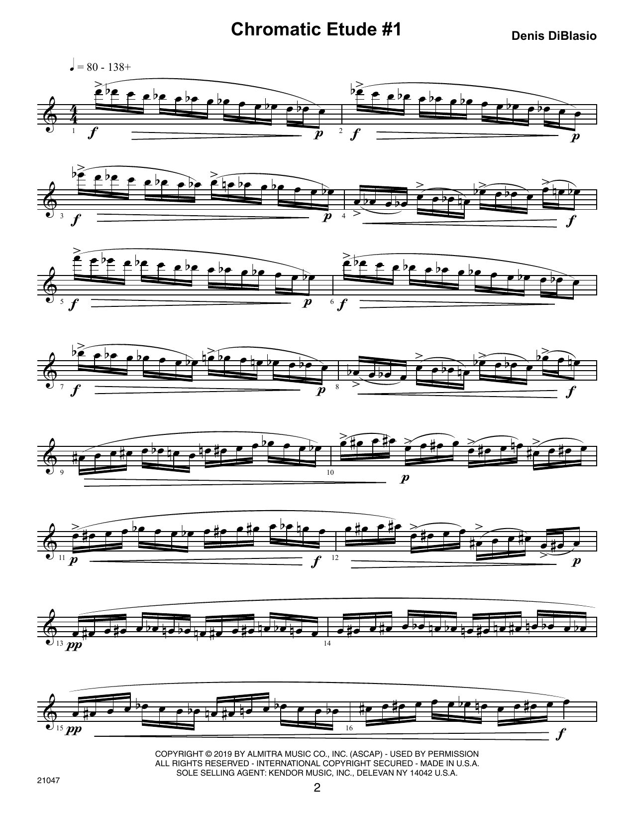 Chromatic Etudes And Sound Patterns For Saxophone Sheet Music