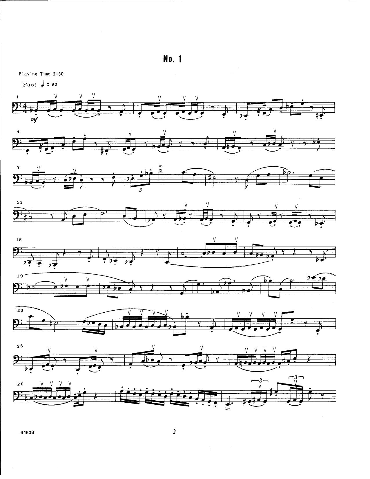Unaccompanied Solos For Bass Trombone, Volume 5 (Brass Solo)