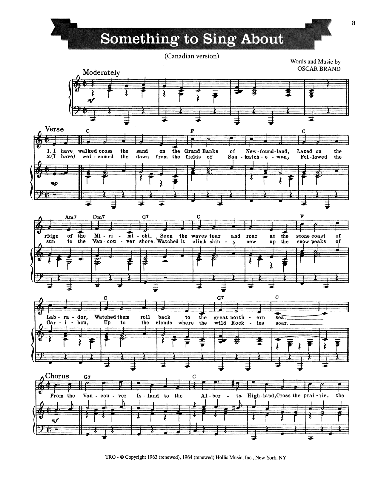 Something To Sing About Sheet Music