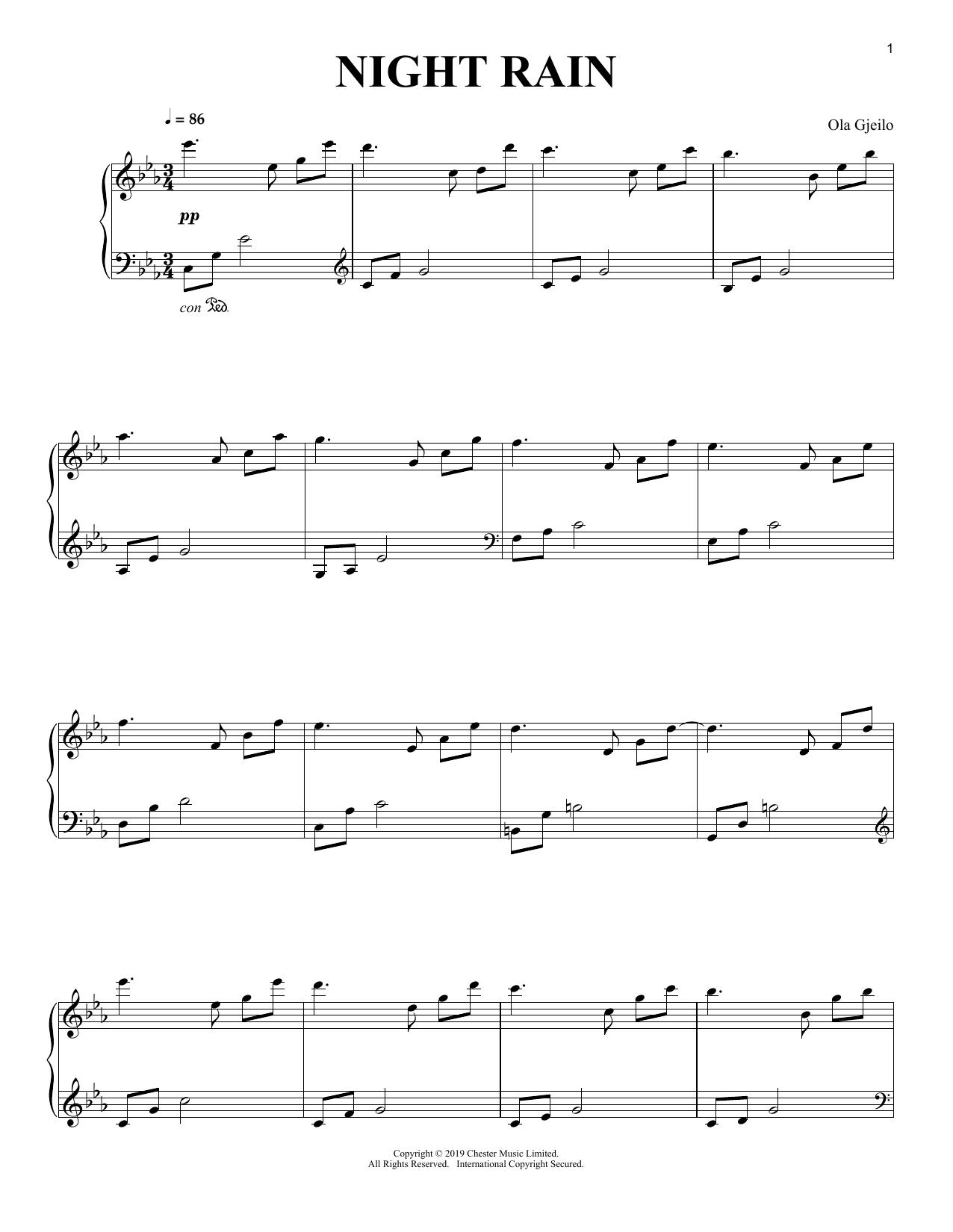 Night Rain (Piano Solo)