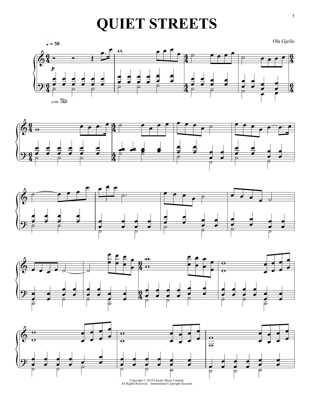 Quiet Streets (Piano Solo)
