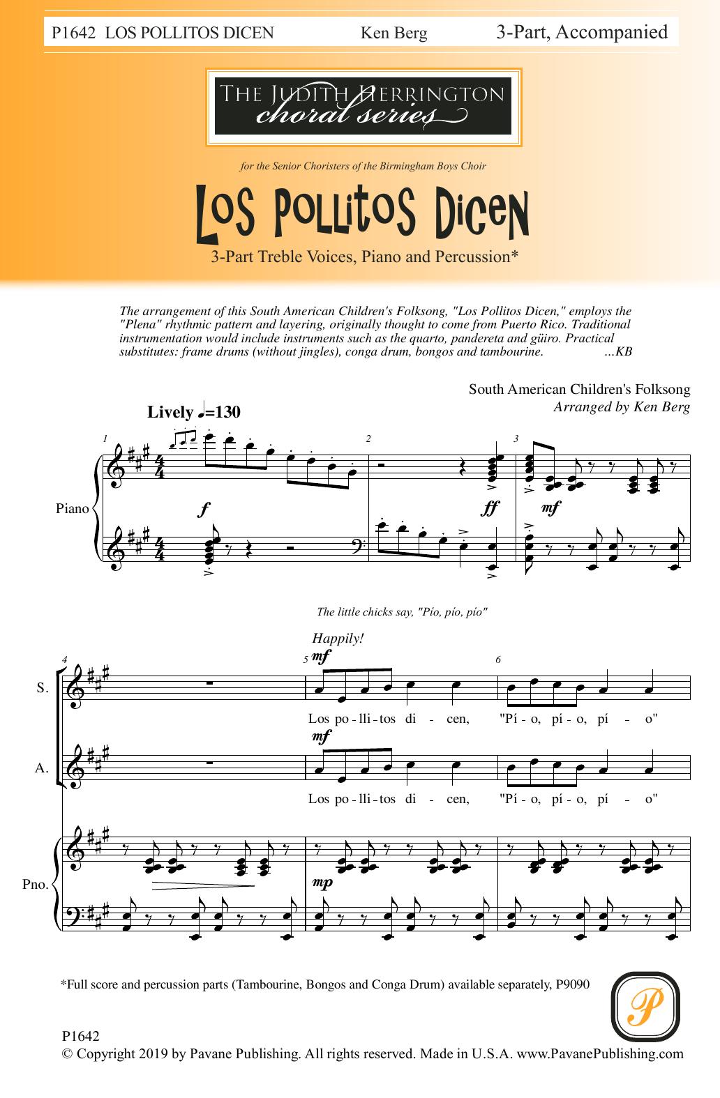 Los Pollitos Dicen (Ken Berg) Sheet Music