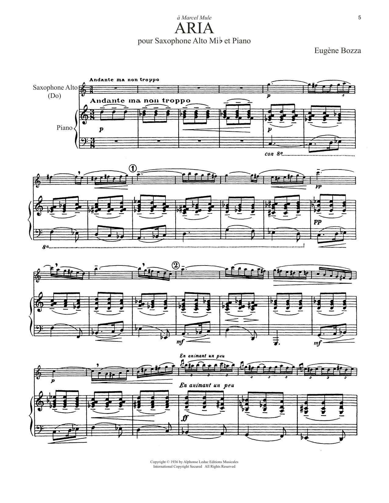 Aria (Alto Sax and Piano)