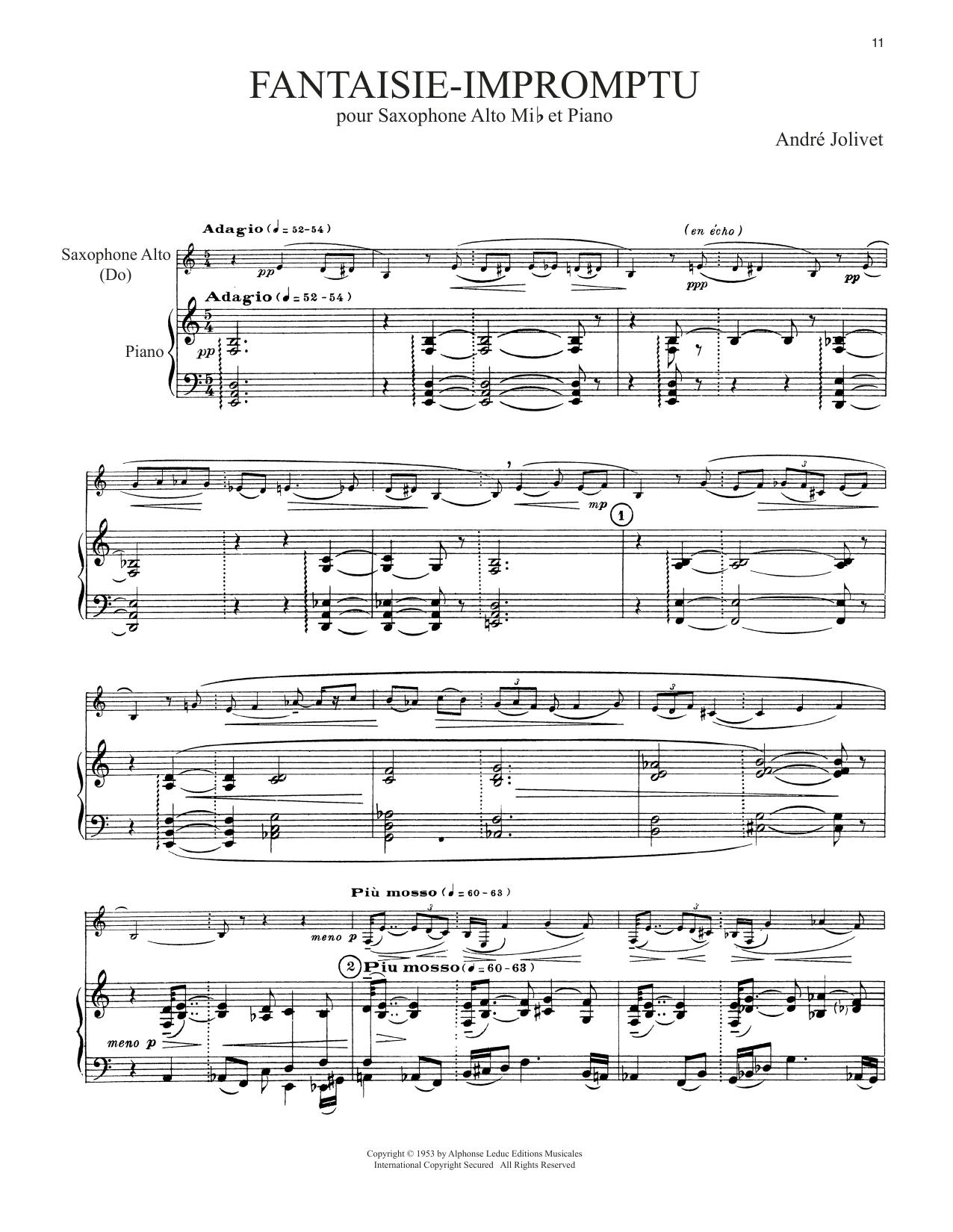 Fantaisie-Impromptu (Alto Sax and Piano)
