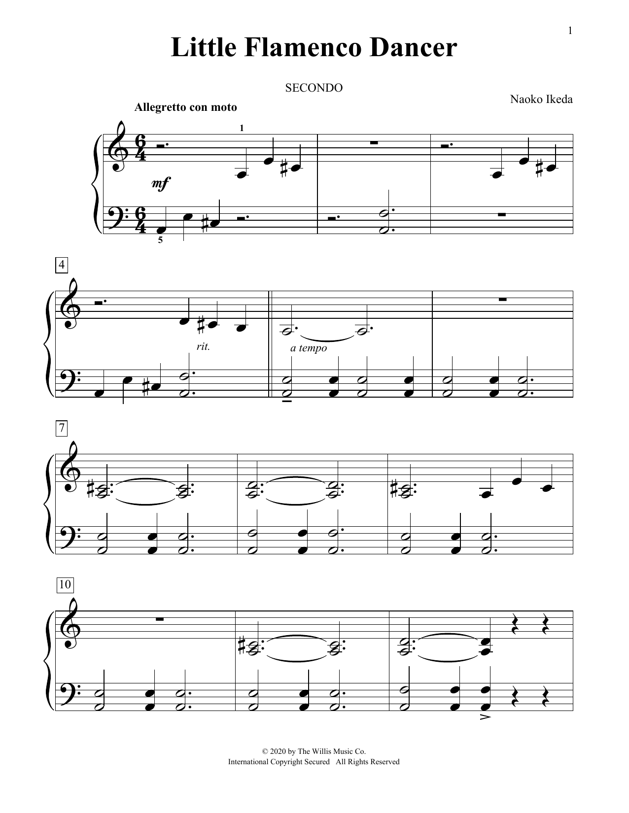 Little Flamenco Dancer (Piano Duet)
