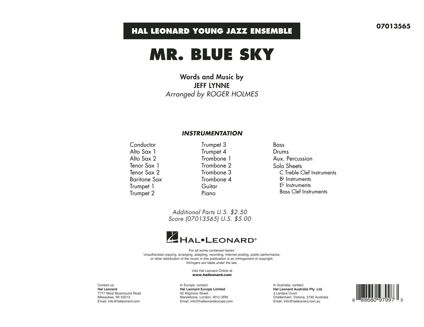 Mr. Blue Sky (arr. Roger Holmes) - Conductor Score (Full Score) (Jazz Ensemble)
